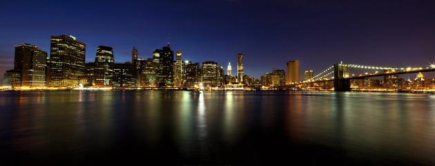 Lower Manhattan panorama at dusk, New York