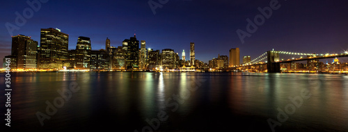 Lower Manhattan panorama at dusk, New York