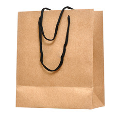 Shopping bag made from brown recycled pape