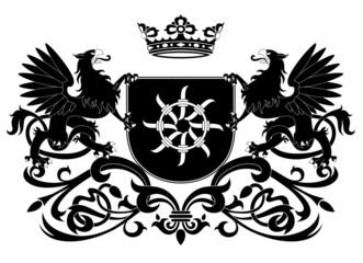 Heraldic griffin  (Coat of arms)