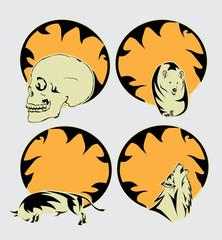 Halloween tribal - design elements
