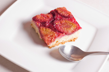 piece of cake with plums