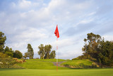 Flag on golf course
