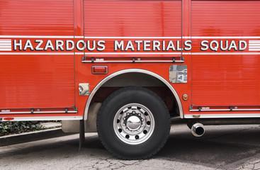 Hazardous Materials Squad truck