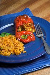 Stuffed pepper with rice