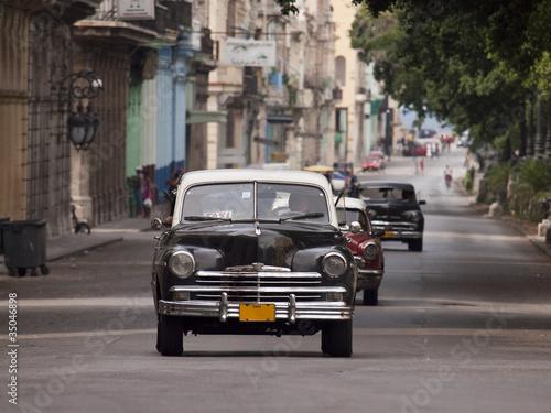 Poster Cubaanse oldtimers auto cuba