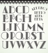 Art deco alphabet