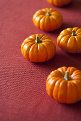 Small Halloween pumpkins