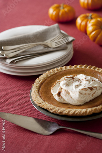 """Plates, forks and pumpkin pie"""