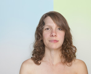 Split image of young and mature woman