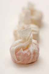 Close up of candy in wrapped paper