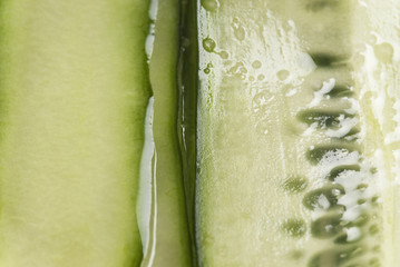 Close up of sliced cucumber