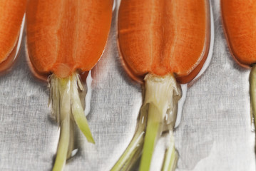 Close up of sliced carrots