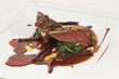Close up of pigeon entree