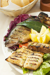 Various grilled trout