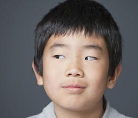 Curious Korean boy