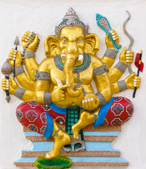 Ganapati avatar image in stucco