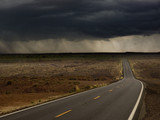 Storm over remote highway