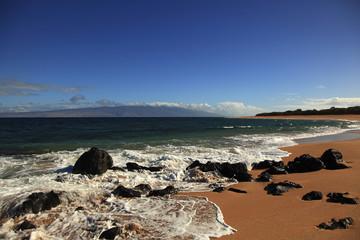 Beach and ocean at Polihua Beach