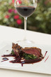 Red wine and pigeon entree