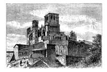 Bezier catedral o Catedral de Saint-Nazaire, Beziers, Francia, vi