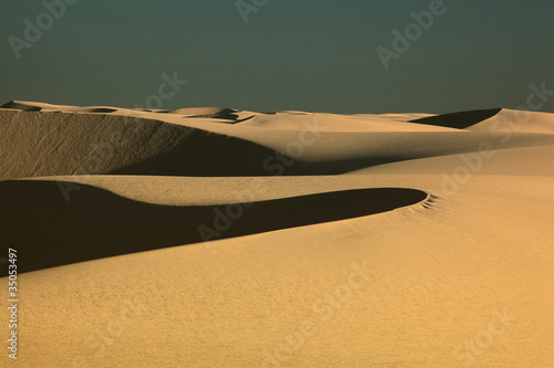 Sunshine on desert sand dune