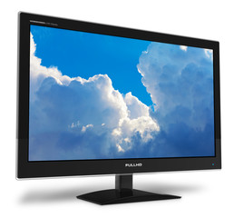 Widescreen TFT display with blue sky