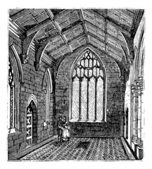 Cotton Chapel, Saint Botolph's Church vintage engraving