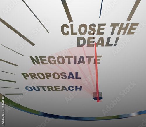 Close the Deal Speedometer Sales Process to Agreement