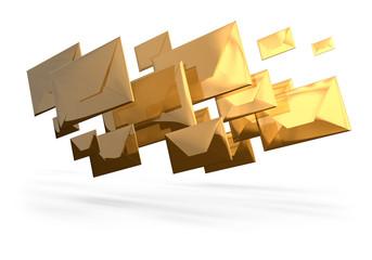 Enveloppes 3d envoi courrier e-mail
