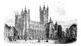 Canterbury Cathedral, Kent,England vintage engraving