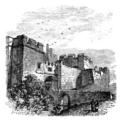 Entrance of the castle Carlisle, in Carlisle, county of Cumbria,