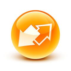 icône flèche connexion déconnexion / connect and disconnect icon