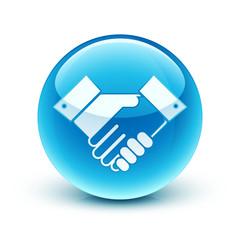 icône poignée de main / hands shake icon