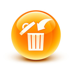 icône poubelle / garbage can icon