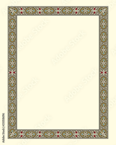 arabesque border frame vector illustration file