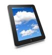 Tablet mit Wolken