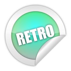 button aufgedreht retro 1