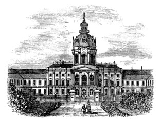 Charlottenburg Royal Palace, in Berlin, Germany, during the 1890
