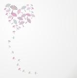 Hintergrund mit Blumen in Form von Herz