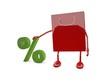 Papiertüte Prozent, Rabatt / Shoppingbag percent, discount