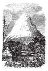 Chimborazo Volcano in Ecuador, during the 1890s