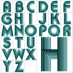 ABC Alphabet background akka black aqua design