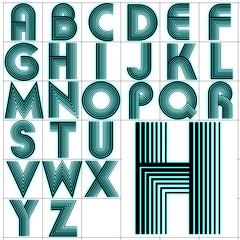 ABC Alphabet background akka black aqua design