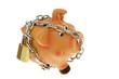 Sparschwein mit Kette und Schloß gesichert