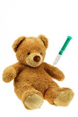 Teddybär mit Injektion