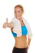 erfolgreiche Gewichtsabnahme im Fitnessstudio