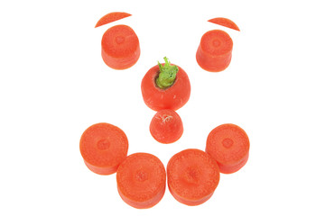 Carrot Arranged in Shape of Face