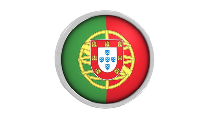 Portuguese flag with circular frame. Part of a series.