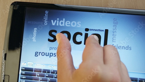social network on touch-screen tablet-pc